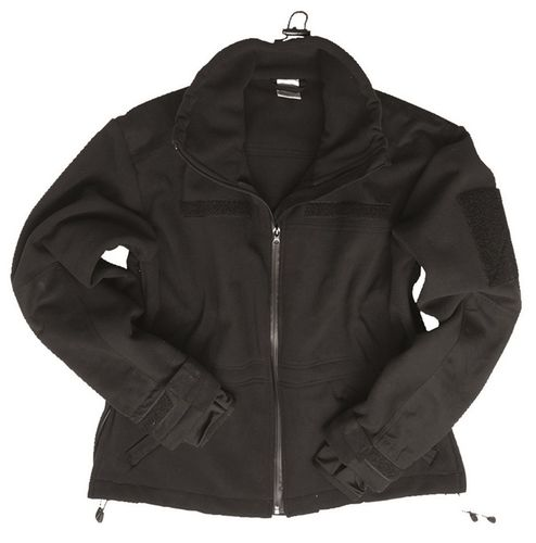 Windproof Jacke Fleece Schwarz