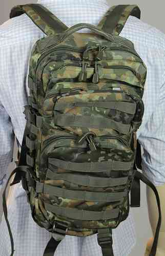 Assault Pack Rucksack, Bw Flecktarn, 20 Liter
